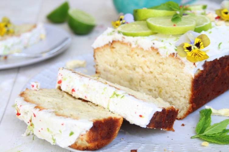 Sam's coconut and lime loaf cake!