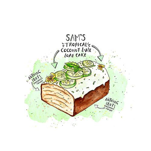 Sam's Coconut and Lime Loaf Cake